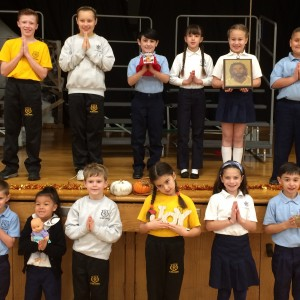 All grades were represented at our Thanksgiving Prayer service.