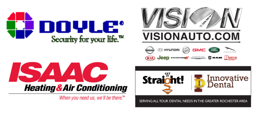 Isaac Heating & Air Conditioning, Doyle Security Systems, Get It Straight Orthodontics & Innovative Dental, Vision Automotive Group